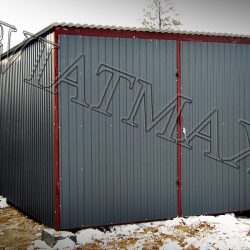 Garaż blaszany 3 x 5 ciemny grafit