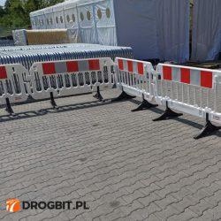 barierka zaporowa, bariera tymczasowa, barierka pcv, bariera z tworzywa